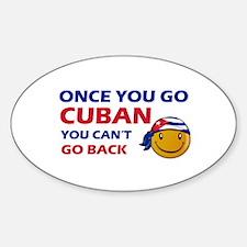 Cuban smiley designs Decal