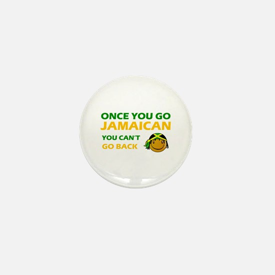 Jamaican smiley designs Mini Button