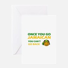 Jamaican smiley designs Greeting Card