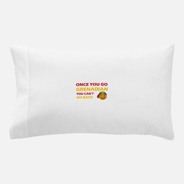 Grenadian smiley designs Pillow Case
