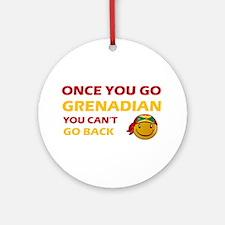 Grenadian smiley designs Ornament (Round)