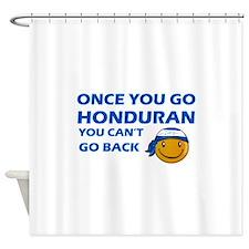 Honduran smiley designs Shower Curtain