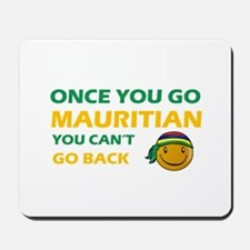 Mauritian smiley designs Mousepad