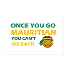 Mauritian smiley designs Postcards (Package of 8)