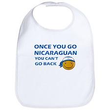 Nicaraguan smiley designs Bib