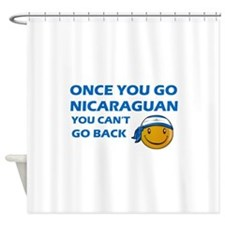 Nicaraguan smiley designs Shower Curtain