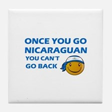 Nicaraguan smiley designs Tile Coaster