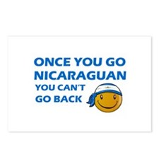 Nicaraguan smiley designs Postcards (Package of 8)