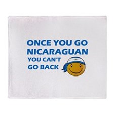 Nicaraguan smiley designs Throw Blanket