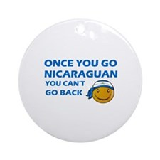 Nicaraguan smiley designs Ornament (Round)