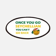 Seychellian smiley designs Patches