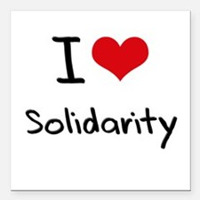 "I love Solidarity Square Car Magnet 3"" x 3"""