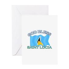 Patriotic Saint Lucia designs Greeting Card