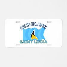 Patriotic Saint Lucia designs Aluminum License Pla