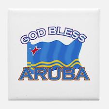 Patriotic Aruba designs Tile Coaster