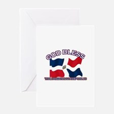 Patriotic The Dominican Republic designs Greeting