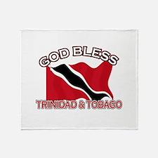 Patriotic Trinidad & Tobaco designs Throw Blanket