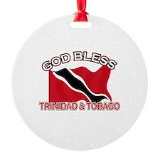 Patriotic Trinidad & Tobaco designs Ornament
