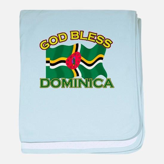 Patriotic Dominica designs baby blanket