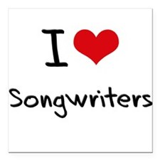 "I love Songwriters Square Car Magnet 3"" x 3"""