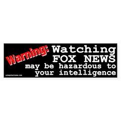Watching Fox News Bumper Bumper Sticker