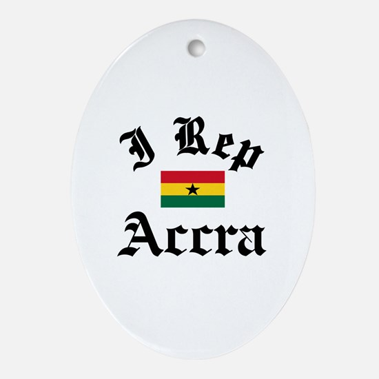 I rep Accra Ornament (Oval)