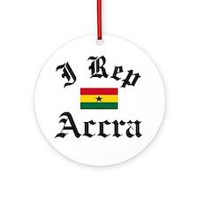 I rep Accra Ornament (Round)