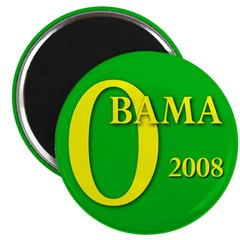 """Green Obama for President 2.25"""" Magnet (10 pack)"""