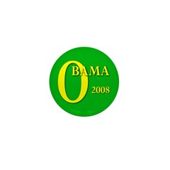 Green Obama for President Mini Button (10 pack)