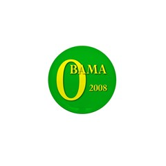 Green Obama for President Mini Button