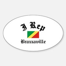 I rep Brazzaville Sticker (Oval)