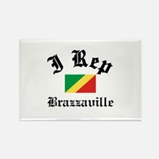 I rep Brazzaville Rectangle Magnet