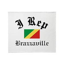 I rep Brazzaville Throw Blanket