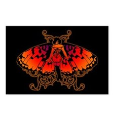 Butterfly Woman Postcards (Package of 8)