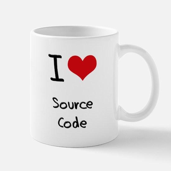 I love Source Code Mug