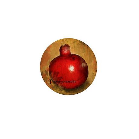 Botanical Pomegranate Mini Button