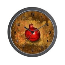 Botanical Pomegranate Wall Clock