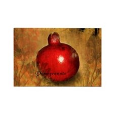 Botanical Pomegranate Rectangle Magnet