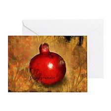 Botanical Pomegranate Greeting Card