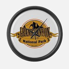 grand canyon 3 Large Wall Clock