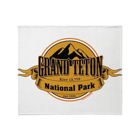grand teton 4 Throw Blanket