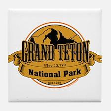 grand teton 3 Tile Coaster