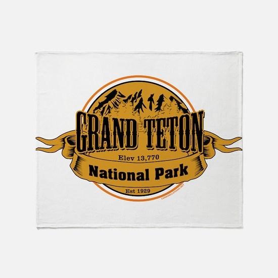 grand teton 2 Throw Blanket