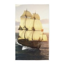 French Warship 3'x5' Area Rug