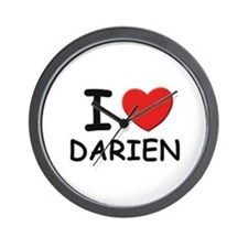 I love Darien Wall Clock