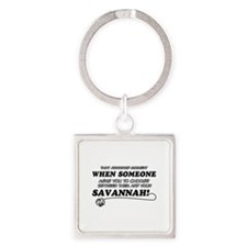 Savannah designs Square Keychain