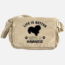 Funny Havanese lover designs Messenger Bag