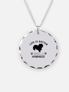 Funny Havanese lover designs Necklace