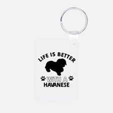 Funny Havanese lover designs Aluminum Photo Keycha