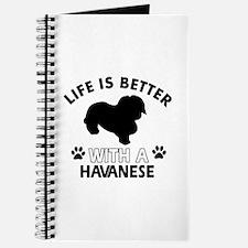Funny Havanese lover designs Journal